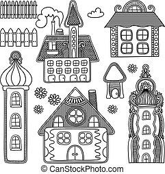 decorative house drawing set