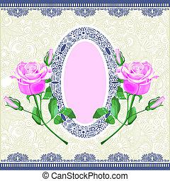 pink rose ornamental decoration