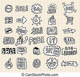 hand draw sale element