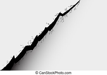 Cracked background - hand draw sketch, Cracked background