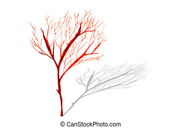 hand draw sketch, dead tree