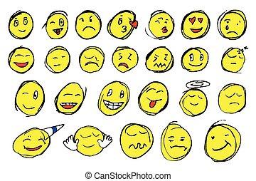 hand draw sketch of emoticon
