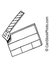 Hand draw sketch of Film Clapper