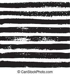 Hand draw striped seamless pattern, nautical background for your design. Grungy vector illustration