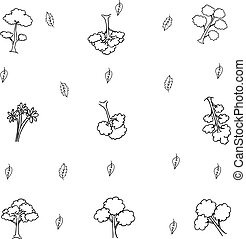 Hand draw tree object of doodle