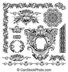 ornamental design element of Lviv historical building - hand...