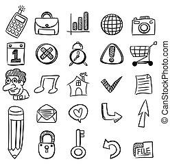 hand draw web icon  - hand draw web icon