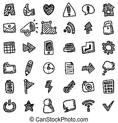 hand draw web icon  - hand draw web icon