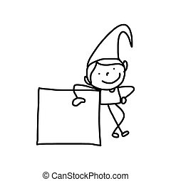 hand drawing abstract cartoon party