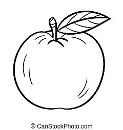 Hand drawing An Apple -Vector Illustration
