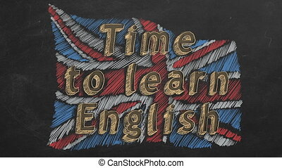 Time to learn English - Hand drawing and animated british...