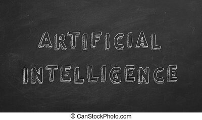 Artificial intelligence - Hand drawing and animated text ...