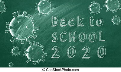 "Back to School 2020 - Hand drawing and animated text ""Back ..."