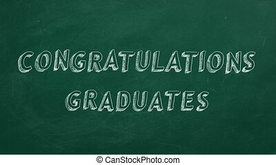 Congratulations graduates - Hand drawing and animated text...