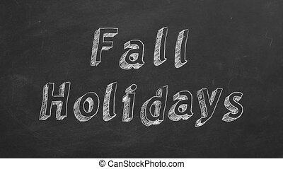 """Fall Holidays - Hand drawing and animated text """"Fall..."""