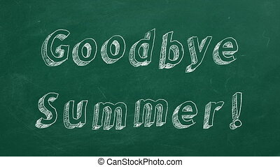 "Goodbye Summer! - Hand drawing and animated text ""Goodbye..."