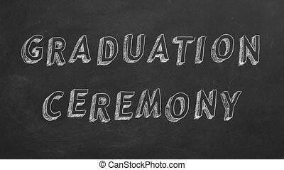 Graduation ceremony - Hand drawing and animated text...