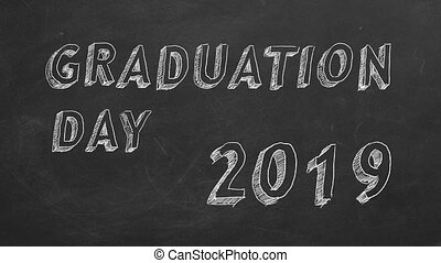"Graduation day. 2019. - Hand drawing and animated text ""..."
