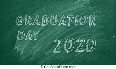 "Graduation day. 2020 - Hand drawing and animated text ""..."