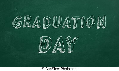 "Graduation day - Hand drawing and animated text ""Graduation ..."