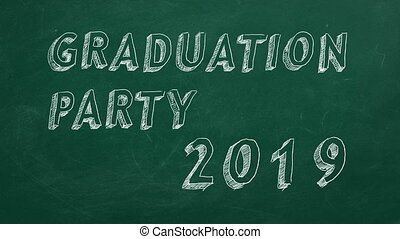 Graduation party. 2019 - Hand drawing and animated text...
