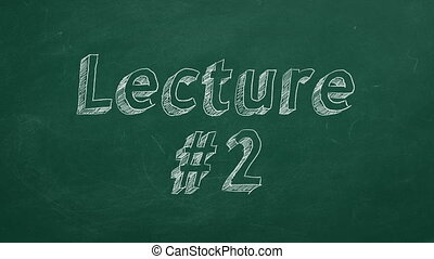 """Lecture #2 - Hand drawing and animated text """"Lecture #2"""" on..."""