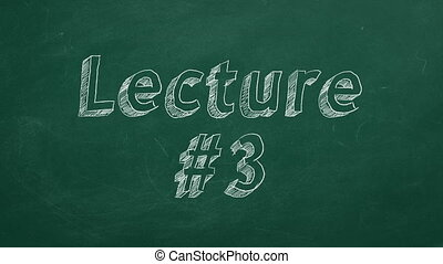 """Lecture #3 - Hand drawing and animated text """"Lecture #3"""" on..."""