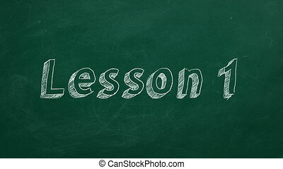 """Lesson 1 - Hand drawing and animated text """"Lesson 1"""" on..."""