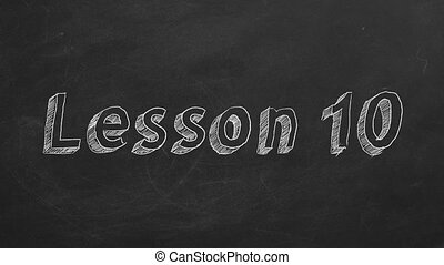"""Lesson 10 - Hand drawing and animated text """"Lesson 10"""" on..."""