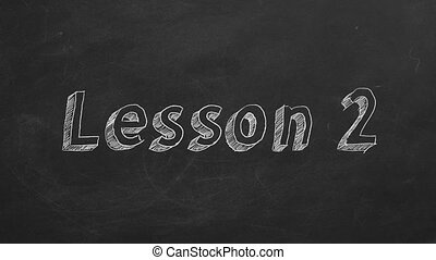 """Lesson 2 - Hand drawing and animated text """"Lesson 2"""" on..."""