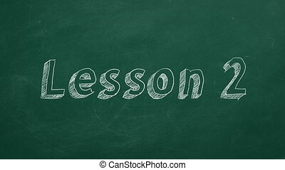 """Lesson 2 - Hand drawing and animated text """"Lesson 2 """" on..."""