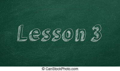 """Lesson 3 - Hand drawing and animated text """"Lesson 3"""" on..."""