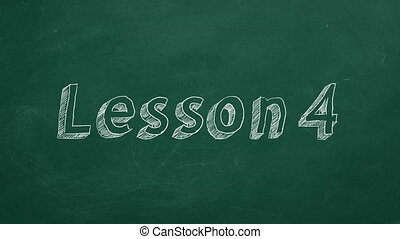 """Lesson 4 - Hand drawing and animated text """"Lesson 4"""" on..."""