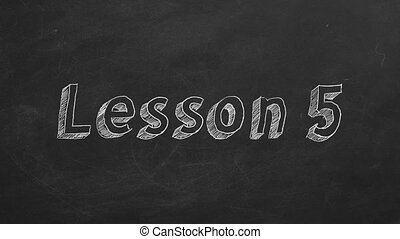 """Lesson 5 - Hand drawing and animated text """"Lesson 5"""" on..."""