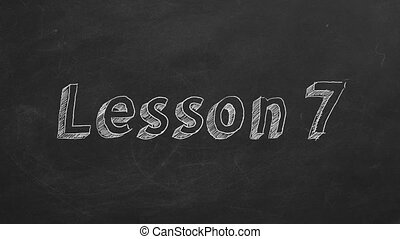 """Lesson 7 - Hand drawing and animated text """"Lesson 7"""" on..."""