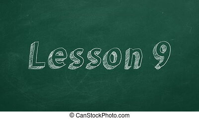"""Lesson 9 - Hand drawing and animated text """"Lesson 9"""" on..."""