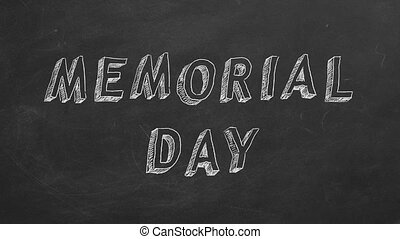 """Memorial Day - Hand drawing and animated text """"Memorial Day""""..."""