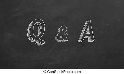 "Q & A - Hand drawing and animated text ""Q & A"" on..."