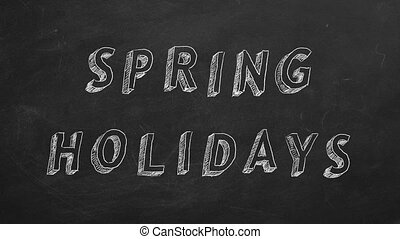 """Spring holidays - Hand drawing and animated text """"Spring..."""