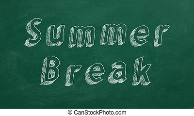 """Summer Break - Hand drawing and animated text """"Summer Break""""..."""