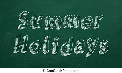 """Summer Holidays - Hand drawing and animated text """"Summer..."""