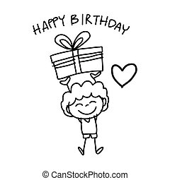 hand drawing cartoon happiness - hand drawing cartoon happy...