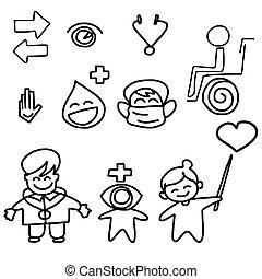 hand drawing cartoon medical