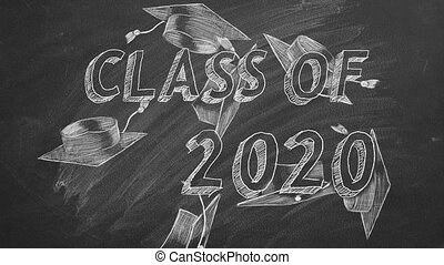 """Class of 2020 - Hand drawing """"Class of 2020"""" and graduation ..."""