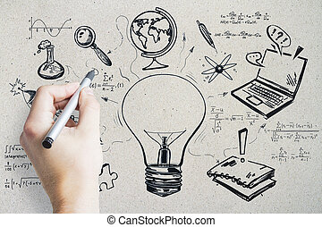 Leadership and education concept  abstract image of
