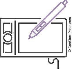 Hand drawing digital stylus sensor pen design technology art...