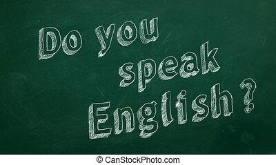 "Do you speak English? - Hand drawing ""Do you speak English?""..."