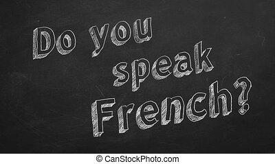 "Do you speak French? - Hand drawing ""Do you speak French?""..."