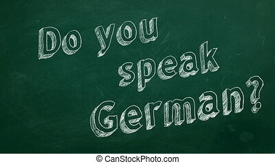 "Do you speak German? - Hand drawing ""Do you speak German?""..."
