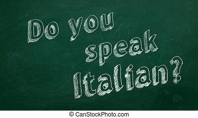 "Do you speak Italian? - Hand drawing ""Do you speak Italian?""..."